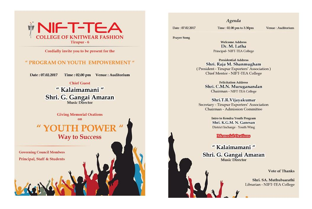 Program on YOUTH EMPOWERMENT
